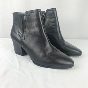 Aldo Black Leather Ankle Booties Size 8.5